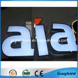 Côté en acier inoxydable 3D allumé avant de la publicité des lettres (GV-LS)