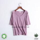 Magliette organiche del cotone della canapa delle donne (WSTV-01/02)