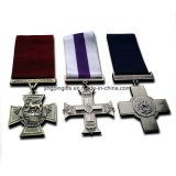 Traversa di Victoria stabilita delle medaglie 3X del gruppo militare della medaglia, traversa militare & medaglie militari britanniche trasversali del George