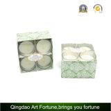 Venta caliente 4 Pk fragancia perfumada velas votivas de vidrio para la decoración del hogar y la promoción de regalo