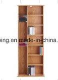 Bibliothèque en bois de modèle moderne avec le bureau d'ordinateur, Module de livre, crémaillère de livre