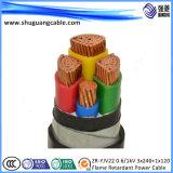Nh-Yjv22 XLPE изолировало обшитое PVC стальное пламя Armred ленты - retardant силовой кабель