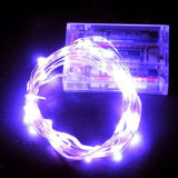 건전지에 의하여 운영하는 LED 구리 철사 끈 빛