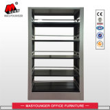 Single Unit Metal Bookshelf Double Face School Bookshelf