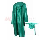 Abito verde lucido della protezione di graduazione del Kelly per l'asilo