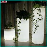 La entrada de luz intermitente de plástico las macetas Lámparas de pie al aire libre