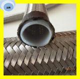 Matériau résistant aux produits chimiques de la température en PTFE avec l'acier inoxydable tressé SAE 100 R14 flexible Teflong