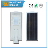 Solarstraßenlaternemit 12V 30W LED Lithium-Batterie