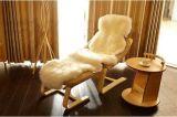 Luxuriöse weiche Schaffell-StuhlThrowlambskin-Wolldecken