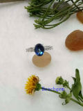 Echte Zilveren Ring juwelen-Tanzanite (R0280)