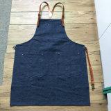 Изготовленный на заказ рисберма джинсовой ткани с кожаный планкой для BBQ