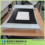 het 4mm Gebogen Aangemaakte Comité van het Glas van de Vlotter voor de Deur van de Open haard met Druk Silkscreen