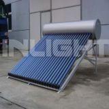 Presión calentador de agua solar compacto caloducto PVDF (Silver Plate)