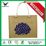 Logotipo ecológica de la bolsa de yute promocionales personalizados