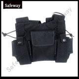 Radio bidirectionnelle de talkie walkie sac du faisceau de la poitrine réglable