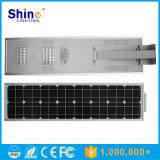 Luz de calle solar del jardín de la batería 30W de la viruta LiFePO4 de Bridgelux