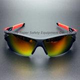 Les plus défuntes glaces UV de sport de protection avec TPR incline (SG128)