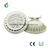 Caso blanco aluminio AR111 LÁMPARA DE LED con el G53 la base GU10 la tensión de entrada 12V o AC85-265V.