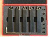 Trousse d'outils de rotation de carbure indexable de 5 PCS avec la qualité