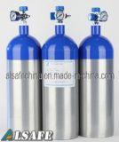 Réservoir d'oxygène en aluminium de taille médicale d'E avec le régulateur