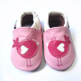 Baby-lederne Schuhe mit Tier