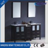 Cabinet de toilette à meuble solitaire en bois massif