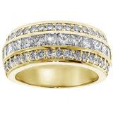 방석 다이아몬드를 가진 결혼 반지 악대 925 순은 보석