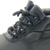 Cuero genuino ningún calzado compuesto de la seguridad en el trabajo de la punta del metal