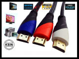 HDMI Cable: HDMI Cable to HDMI Cable 1.4version 1080p 24k Gold Plated for HDMI Devices (KS--1102)