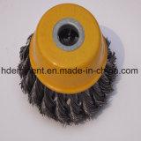 "Balai de roue de fil d'acier de noeud de torsion de l'acier inoxydable 4-1/2 """