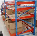 Armazém de armazenamento Médio direito Flow-Through cremalheira Carton