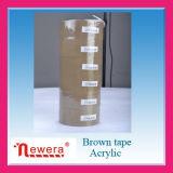 Una sola cara y adhesivo acrílico BOPP Brown Cinta de embalaje