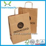 Personalizado Brown Kraft compras saco de papel com logotipo da impressão Saco do presente