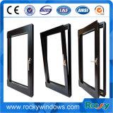 Vetratura doppia Windows di alluminio e portelli della stoffa per tendine di disegno verticale di alluminio della finestra