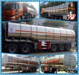 半昇進35000L-60000Lのステンレス鋼のガソリン重油のタンカーのトレーラー