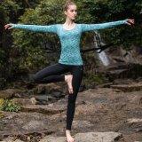 Camisa de ioga de manga comprida de nylon Mulheres Calças de ganga Yoga Wear