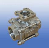 Acero inoxidable 3PC PN69 ISO5211 válvula de bola de la base de montaje