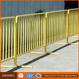 Barrera revestida del control de muchedumbre del metal del polvo/barricadas/barrera de acero del control de muchedumbre del concierto