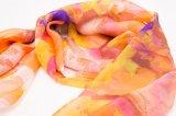 Sciarpa chiffona di seta 2017 di modo della donna