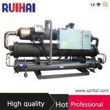 OEM/ODM Hanbell halbhermetische abkühlende Kapazität der Schrauben-480kw/125ton für industrieller Bereich-wassergekühlten Kühler
