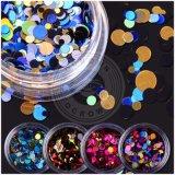 다채로운 폴리에스테 반짝임 DIY 훈장 못 Laser Paillette 조각