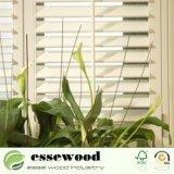 El Vinilo reforzado envuelto de PVC blanco o madera de plantaciones de la ventana de obturador de la esquina de la ventana