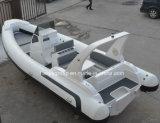 Yate del lujo del casco de la fibra de vidrio del barco de la costilla del placer de Liya los 7.5m