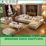 木フレームが付いている標準的なLoveseatsの居間ファブリックコーナーのソファー
