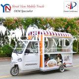 Chariot commercial mobile de nourriture de véhicule dinant de nourriture