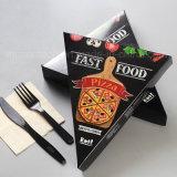 Disaposal黒いカラー三角形ピザ包装ボックス