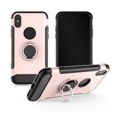 Tampa móvel híbrida da caixa dupla do telefone de Kistand da camada para o iPhone X