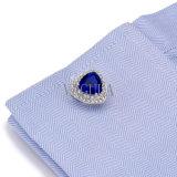 Os homens de bijutaria VAGULA Crystal homens camisola francesa alfinetes 502