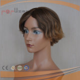 Meia peruca barata do Short do cabelo humano (PPG-l-01687)
