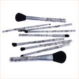 Comercio al por mayor marca Private 9PC Juegos de pincel de maquillaje con mármol color